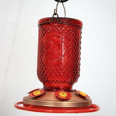 Hummingbird Feeder 6 w/Bee Guards Jar 32