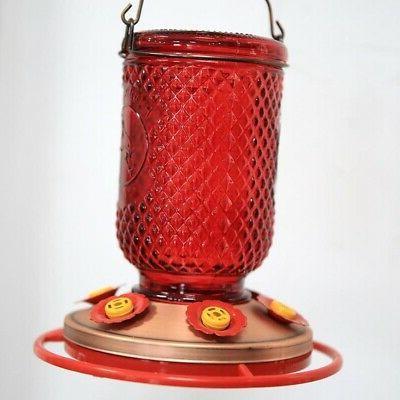 Hummingbird 6 w/Bee Guards Red Jar Copper 32