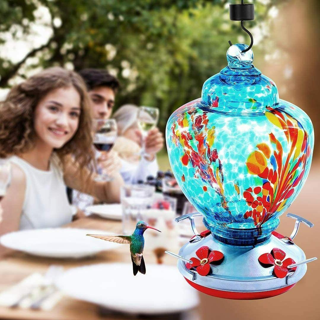 Hummingbird Glass Feeders to
