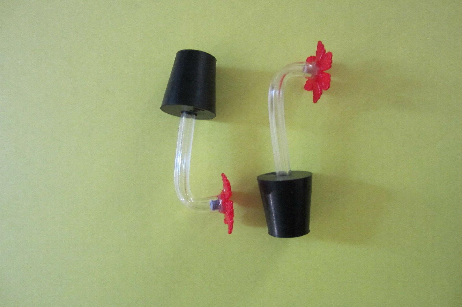 Hummingbird feeder tubes stoppers flower,set 10