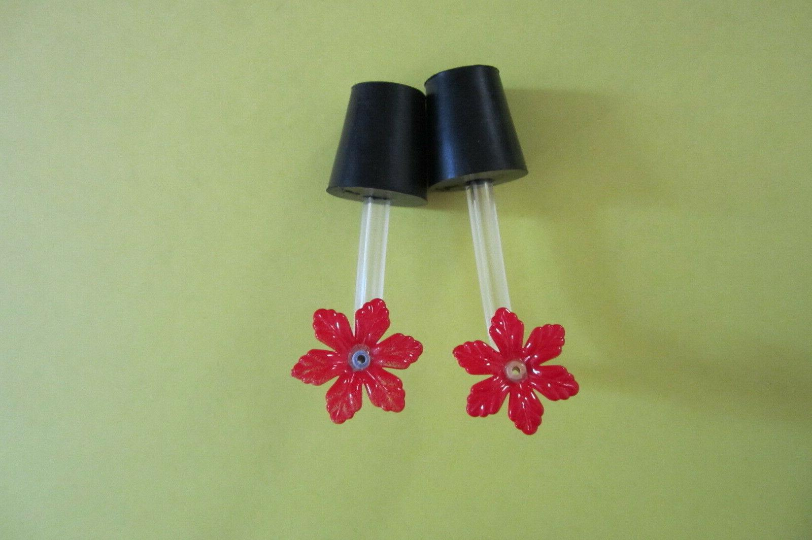 Hummingbird feeder stoppers with of