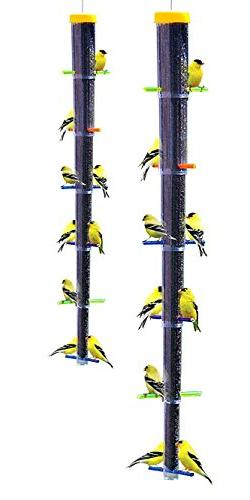 S&K Tornado Rainbow Collapsible Finch Feeders, Pack of 2