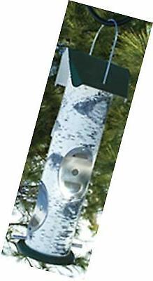 LOG2T Birch Log  Design Bird Feeder for Thistle Seed beige