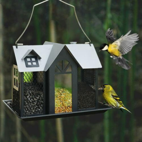 KINGSYARD Bird Feeder Mesh House Seed Feeders