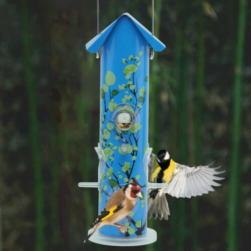 KINGSYARD Tube Metal Lightweight Feeders Seed Friendly