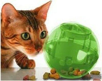 multi vet slimcat cat toy ball feeder