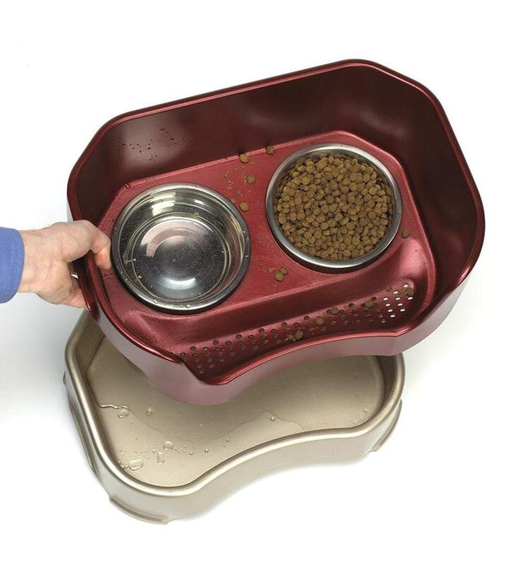 Neater Pet Brands Feeder Deluxe Dog Mess Proof Elevated Bowls No Slip