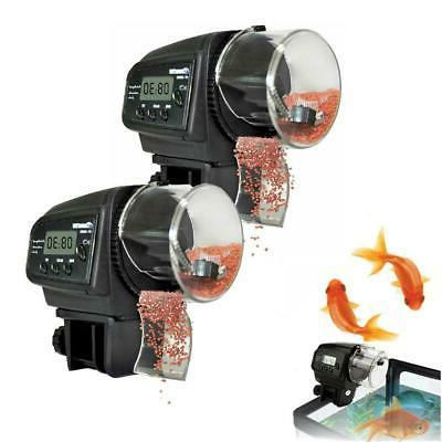 New LCD Automatic Feeding Aquarium Tank Fish Food Feeder Tim