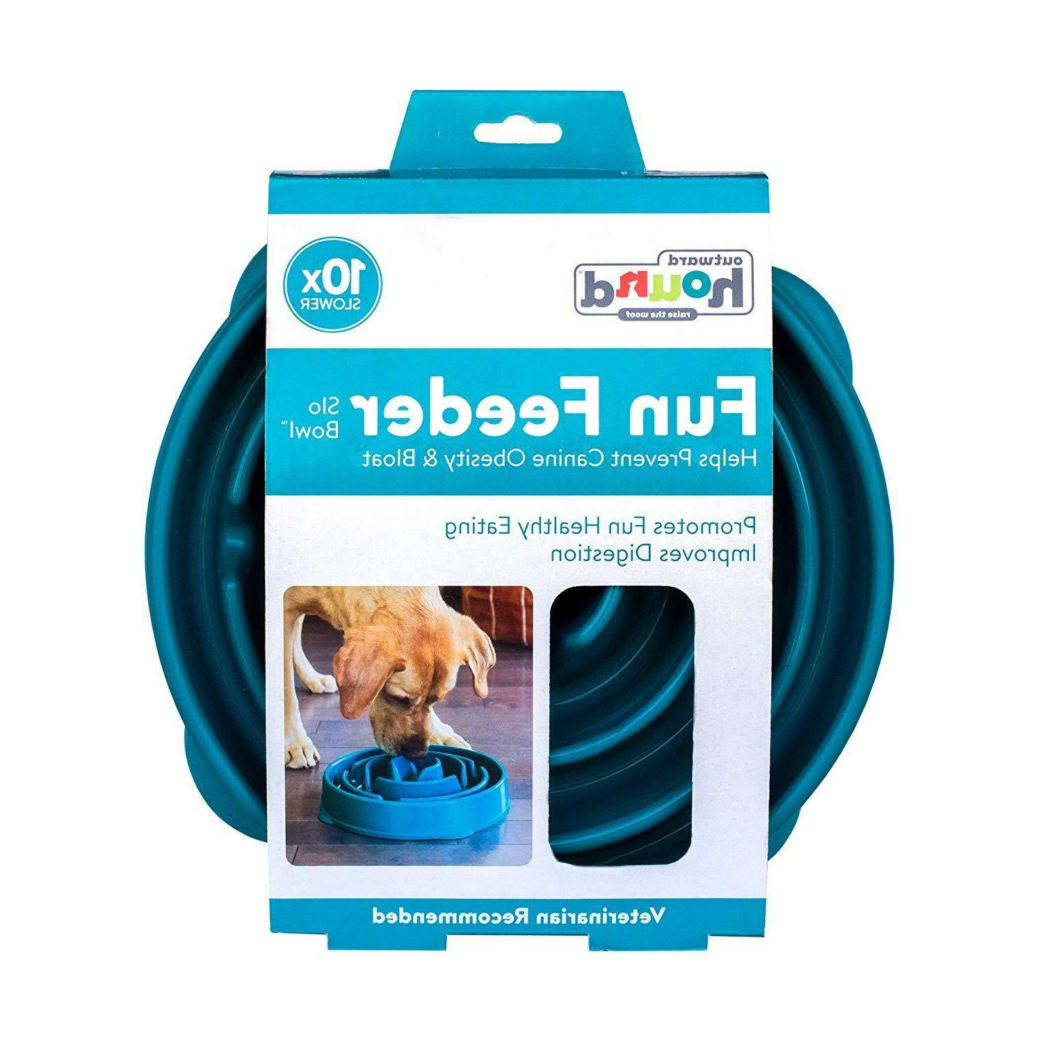 Outward Hound Slow Feed Stop Bowl