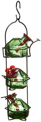 BestNest Parasol Lunch Pail Hummingbird Feeder, Green, 10.5