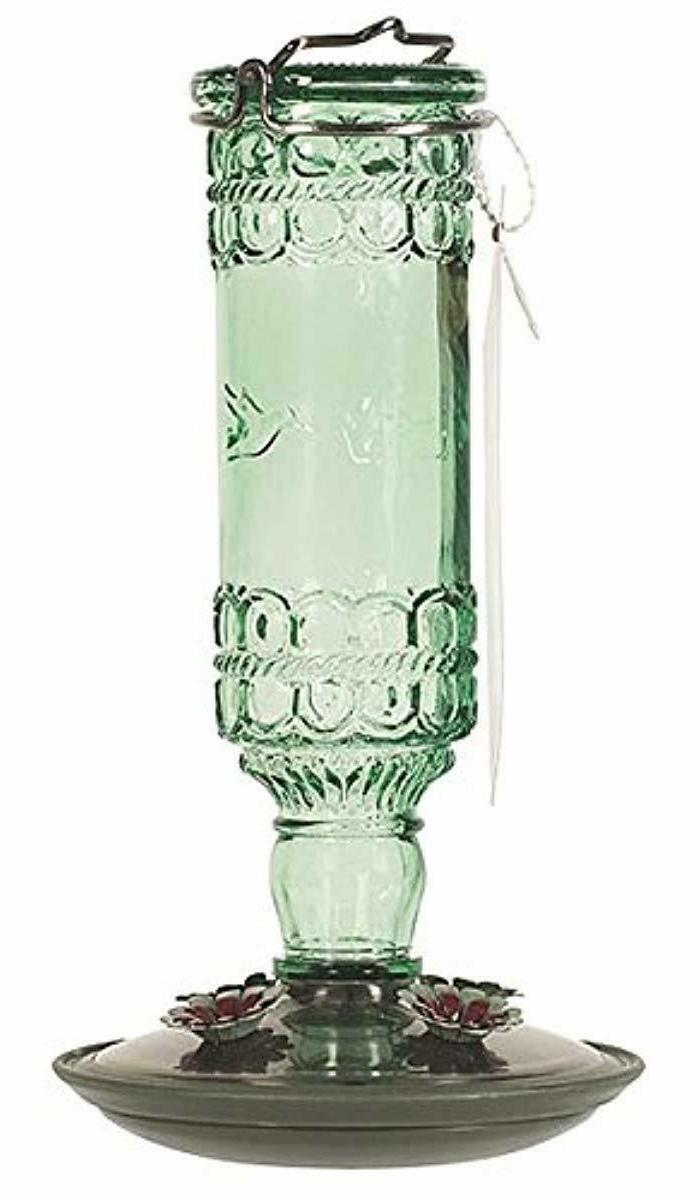 perky pet 8108 2 green antique bottle