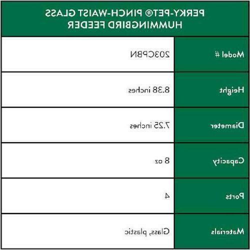 Perky-Pet Glass Hummingbird Feeder | oz. Capacity