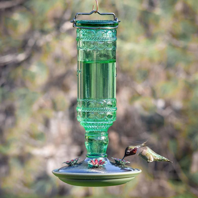 Perky-Pet Feeders Antique Bottle 10-Ounce Hummingbird
