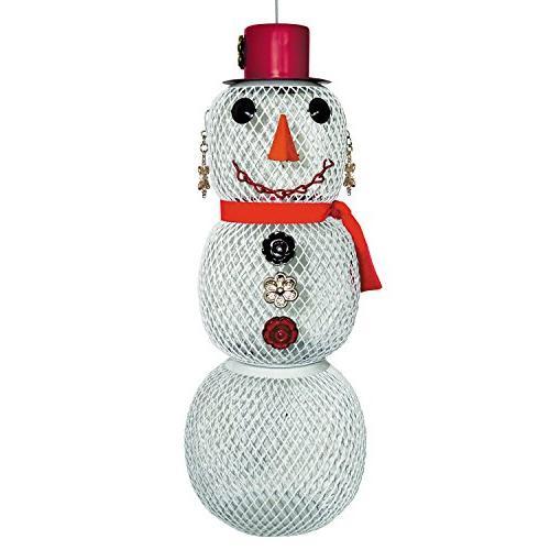 perky pet metal mrs snowman