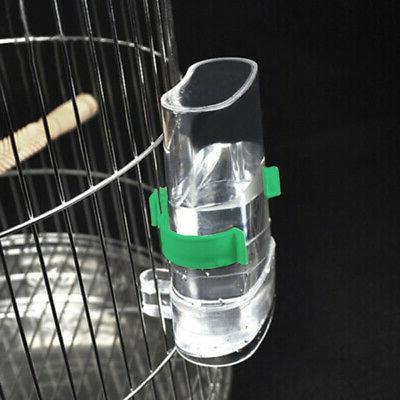 pet bird feeder drinker food waterer bowl