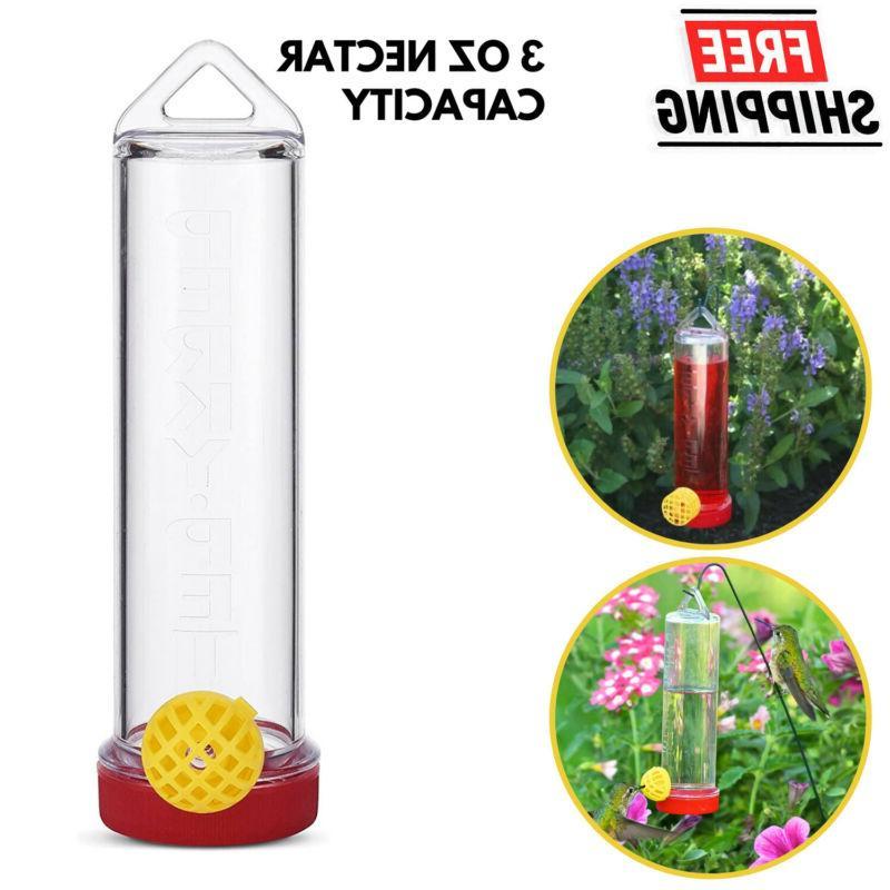 plastic hummingbird feeder with hanging rod