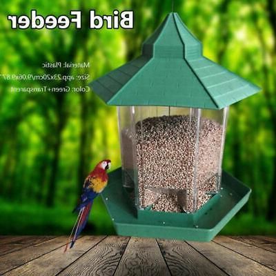 Plastic Waterproof Hanging Bird Feeder Garden Yard