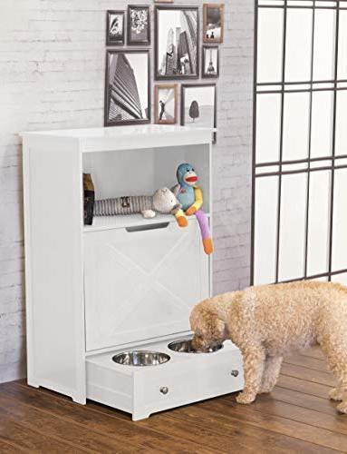 zoovilla PTF0071720110 Pet Feeder, White