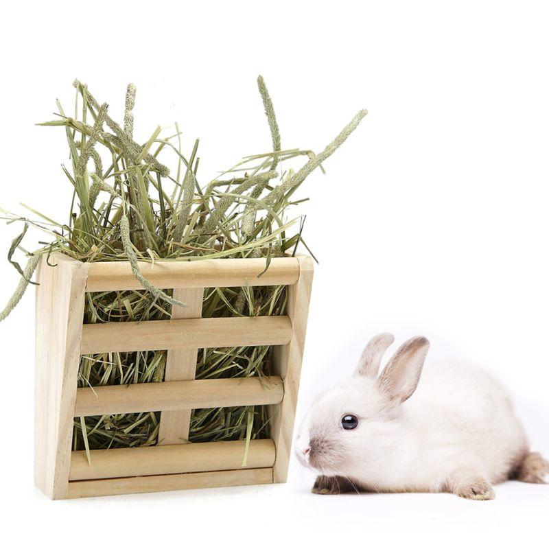 Rabbit Wooden <font><b>Feeder</b></font> Frame Small Pet Gui