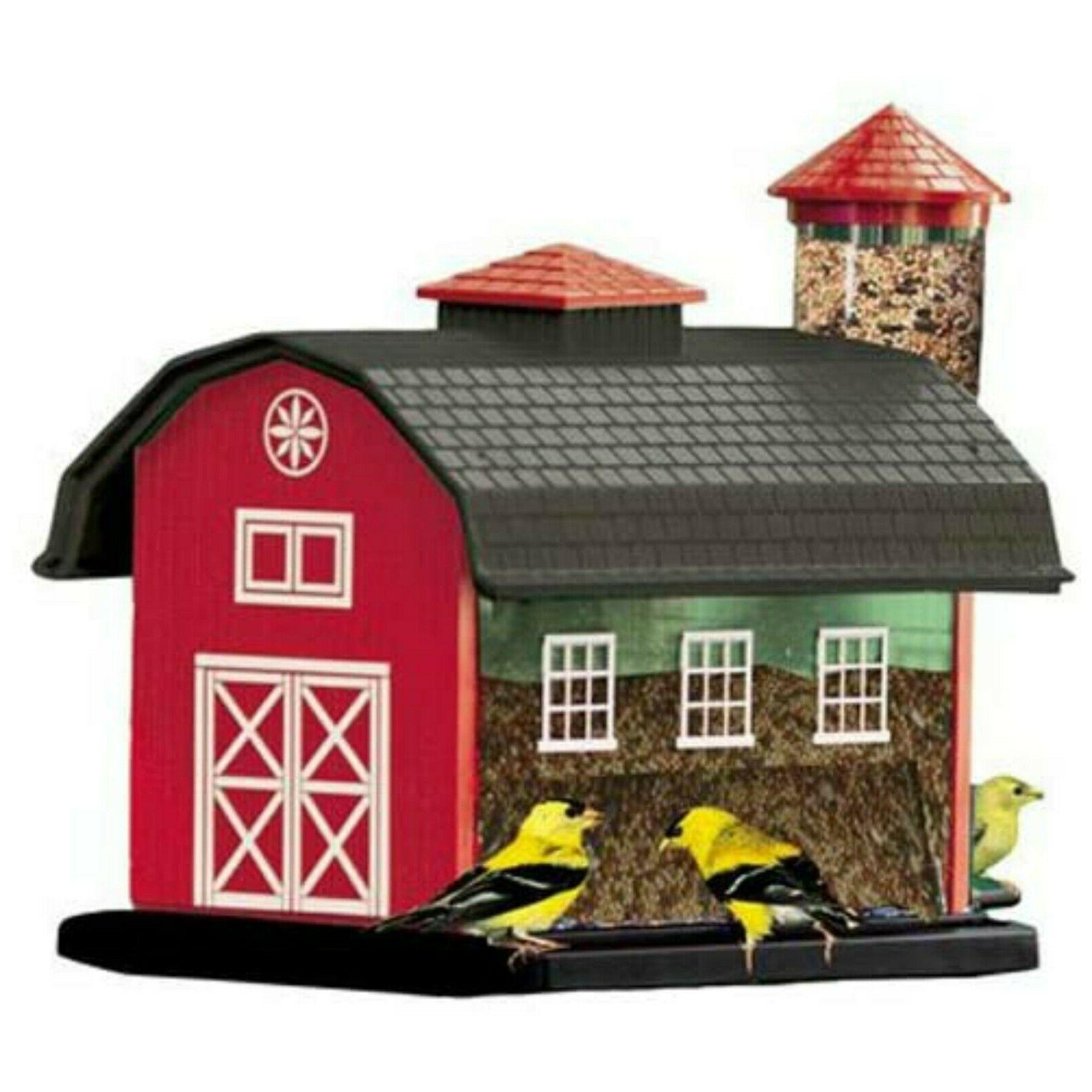 Red Barn Feeder Combo Bird Seed Feeder 7lb Mixed Seed Capaci