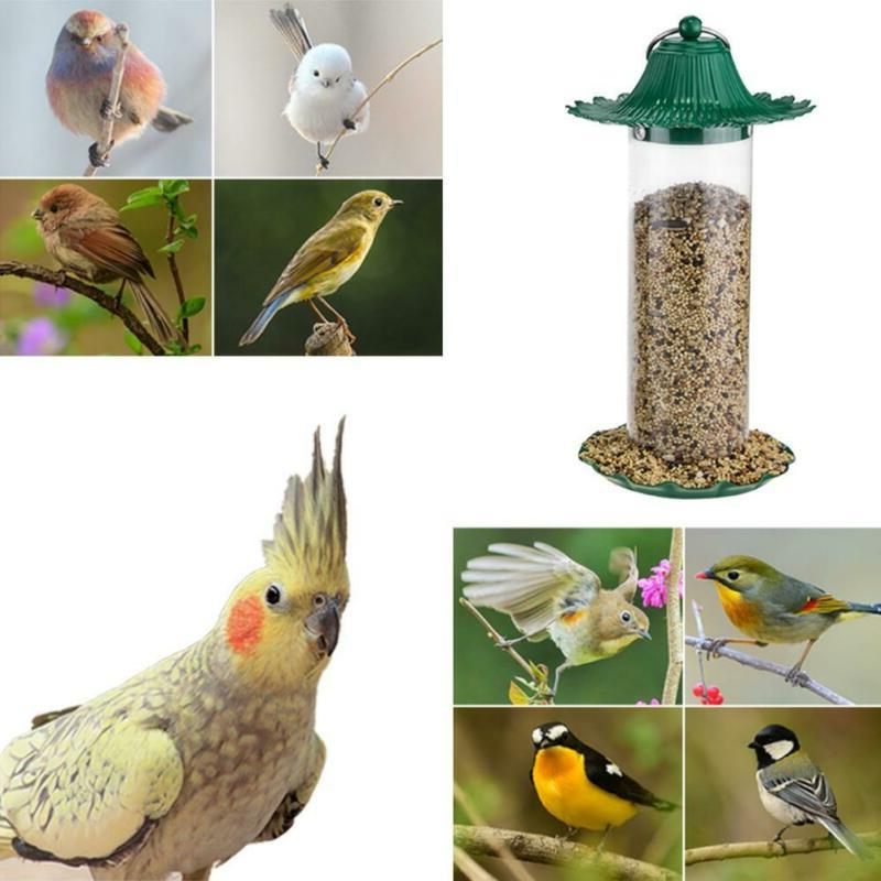 Bird Feeder Bird Food Box Rainproof Automatic Feeding Outdoo