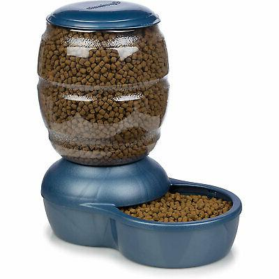 replendish gravity feeder blue dog bowl