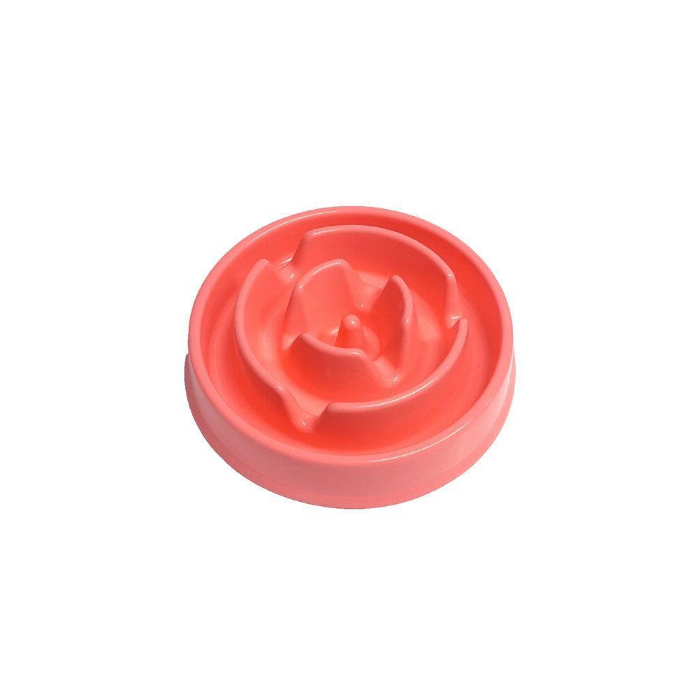 slow feeder bowls flower pink
