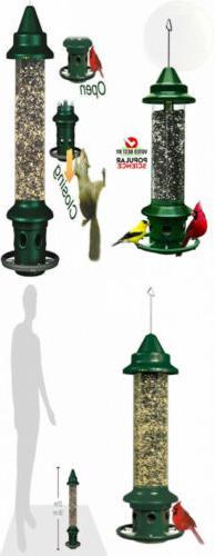 """Squirrel Buster Plus 6""""x6""""x28""""  Wild Bird Feeder with Cardin"""