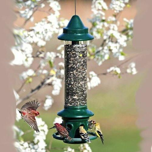 Squirrel feeder with Cardinal Ring, holds pounds