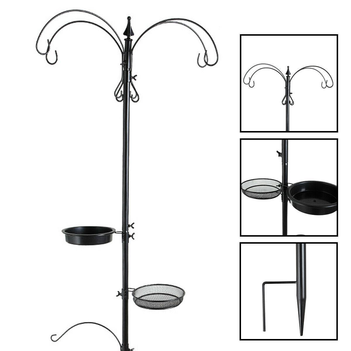 station hanging bird feeder pole mental stand