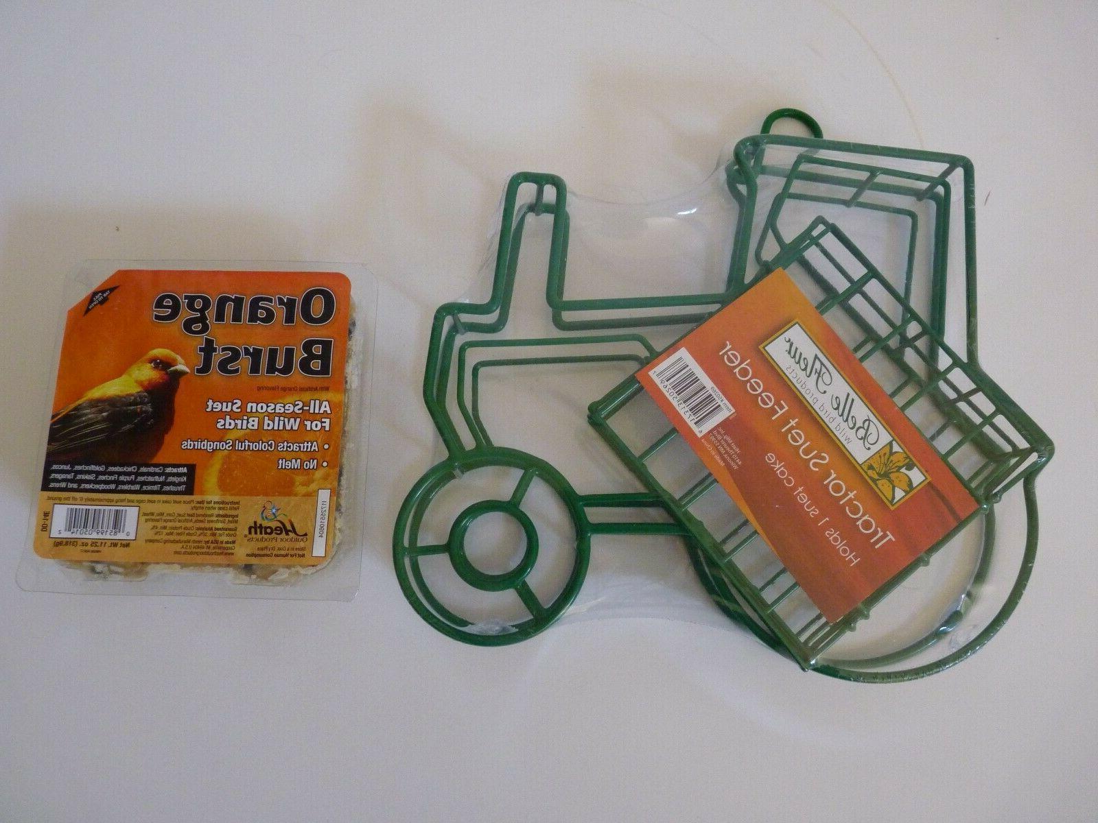 tractor suet bird feeder green by plus