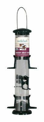 Audubon  Wild Bird  2 lb. Plastic  Tube  Bird Feeder  6 port