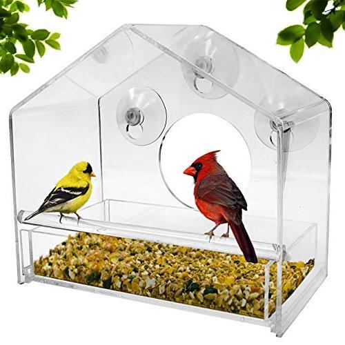 upgraded window bird feeder