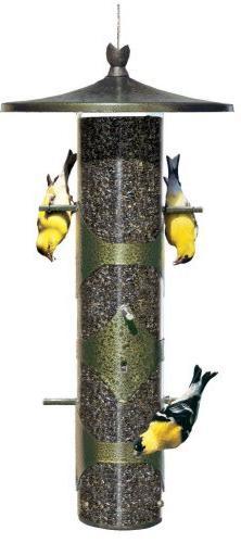 Upside Down Goldfinch Feeder. Metal, Hanging, Garden, Feeder