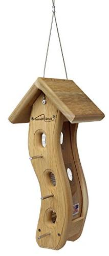 Kettle Moraine Small Wave Finch Feeder for Nyjer Thistle See