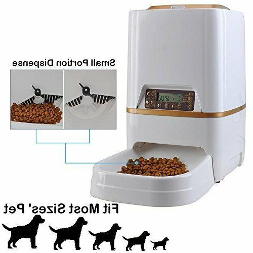 WESTLINK Automatic Pet Feeder Food Dispenser Cat Dog with