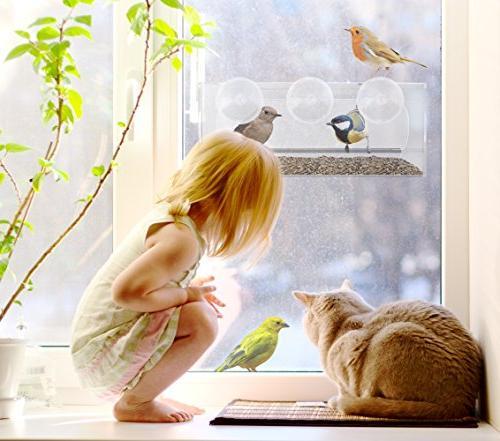 Best Window Bird & Seed Tray, Outdoor Birdfeeders Birds, Outside Drain Extra Cups
