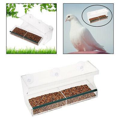 Window Hanging Bird Feeder with Sliding Feeding Tray Bird Fe