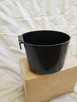 Large Cage Cup/4 cups/Chicken Feed and water cup 3pack Black