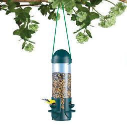 Large Clear Tube Hanging Bird Feeder, 3 Perches, by Collecti