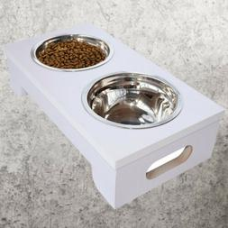 Large Elevated Dog Feeder Dog Bowls Stand Dog Food and Water