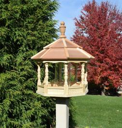 Large Spindle Gazebo Bird Feeder Wood Amish Homemade Handcra