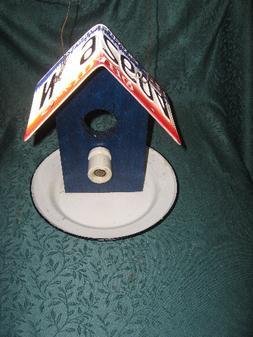 Handmade License Plate Ceramic Insulator Enamelware Bird Fee