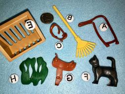 M~9315~Horse Saddle~Reins~Bridle~Cat~Hay~Feeder~Rake~CHOOSE