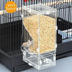 Mrli Pet No Mess Bird Feeder Free Install Tidy Seed Parrot I