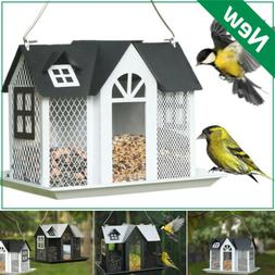 metal mesh triple bird feeder squirrel proof
