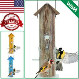 KINGSYARD Tube Bird Feeder Metal Lightweight Finch Seed Feed