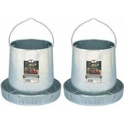 LITTLE GIANT Miller 9112 12lb. Galvanized Hanging Poultry Fe
