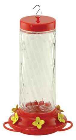 Audubon NA35227 Swirl Glass Hummingbird Feeder, 30-Ounce