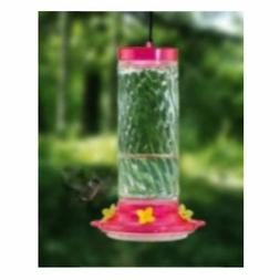 Audubon NA35227P Clear Glass Swirl Nectar Hummingbird Feeder